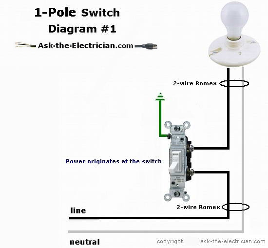 easy to understand wiring for switches single pole switching diagram