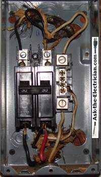 basic electrical wiring mistakes of do it yourselfers here we have two circuits of 12 2 ungrounded cables feeding a 220 volt 30 amp dryer receptacle and a 120 volt circuit that is tapped on the