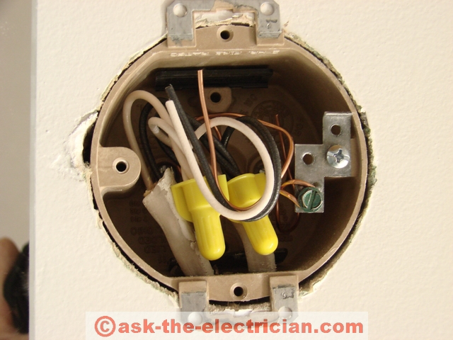Installing Wall Light Junction Box : Working with Wall Fixture Junction Boxes