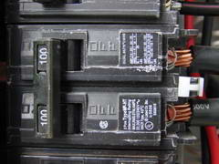 electrical service circuit breaker
