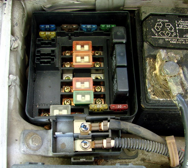 car electrical fuse box under the hood car electrical Under Hood Fuse Box Diagram at bakdesigns.co