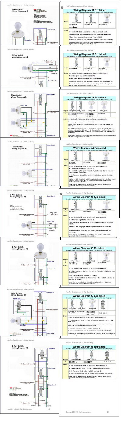 wiring way switch diagram 3 way switch variations