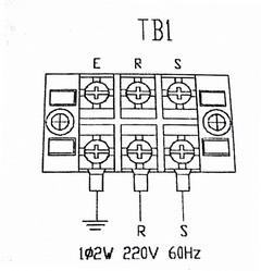 220 volt wiring terminal