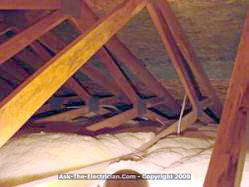 attic wiring ceiling fan