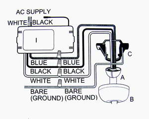 Hunter  Wiring Diagram on Hunter Fan     Home Ceiling Fans And Ceiling Fan Accessories