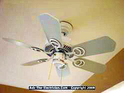 ceiling fan blades mounted