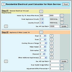 electrical load calculator va formula