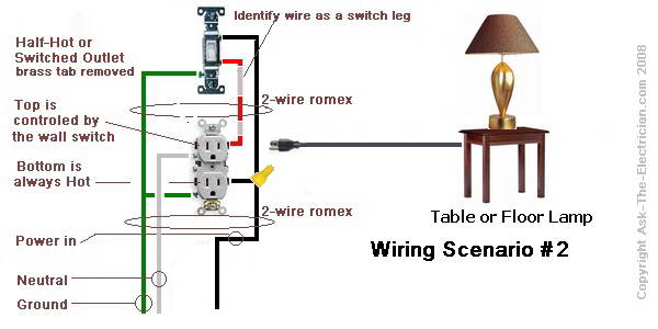 how to wire a switched outlet with wiring diagrams,