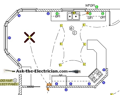 install kitchen electrical wiring kitchen blueprint and wiring design layout