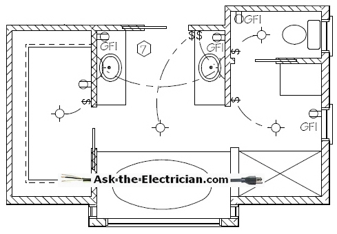 Basic Electrical Wiring on Electrical Wiring Diagram Bathroom