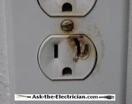 hot electrical plug