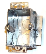 electrical wiring box - 1-gang metal cut in box
