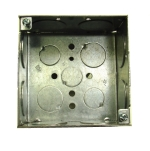 electrical wiring box - 4-square-metal-box
