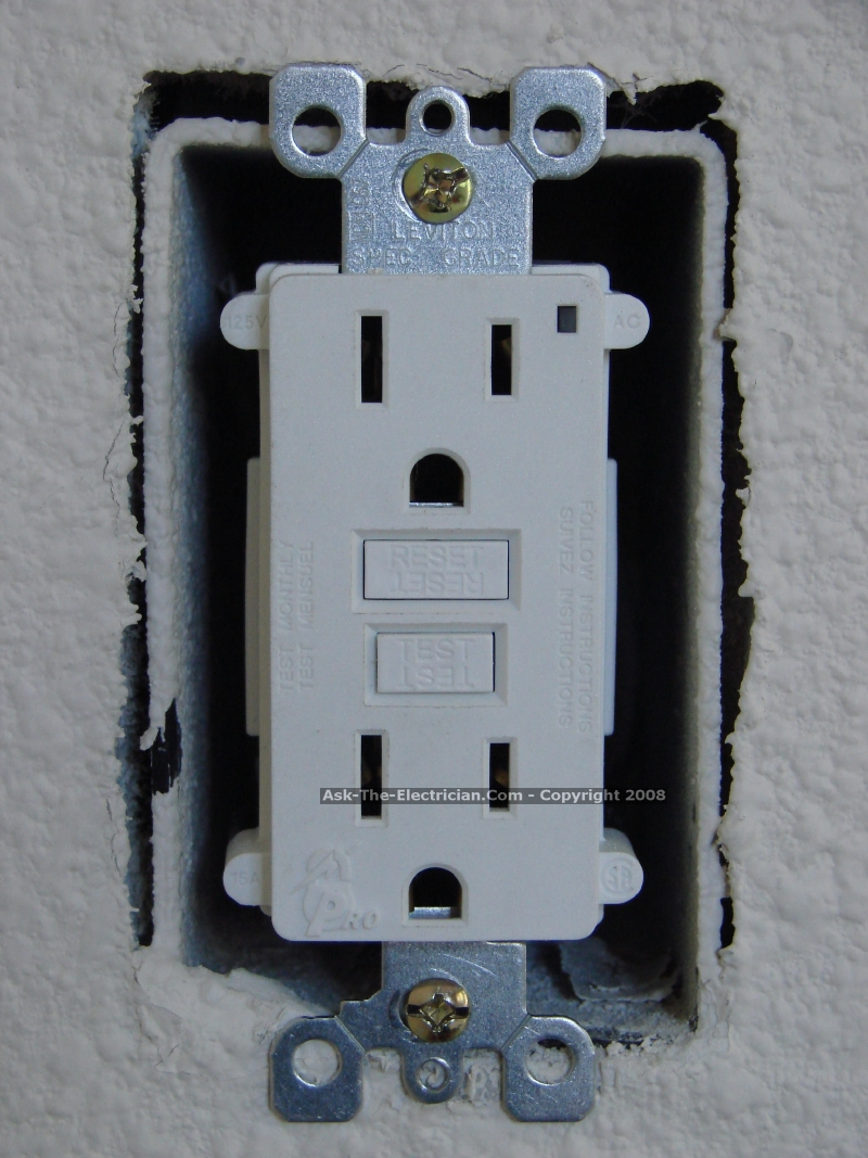 Gfci Outlet Wiring Methods House Receptacle Fold The Wires Carefully Back Inside Box And Install