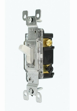 Leviton 1463 15 Amp, 120 Volt, Illuminated 3Way Light Switch