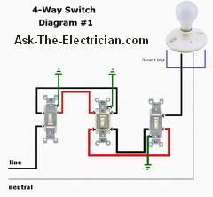 3Way And 4way Switch Wiring Diagram - 4 Way Switch Image