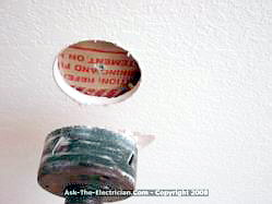 drilled hole for ceiling fan box