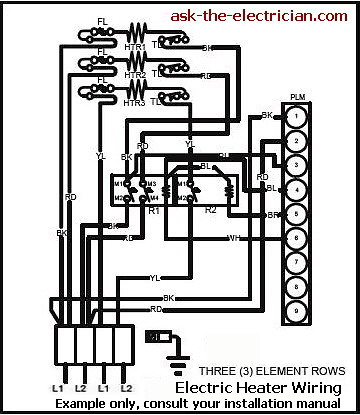 Electric furnace fan relay wiring diagram