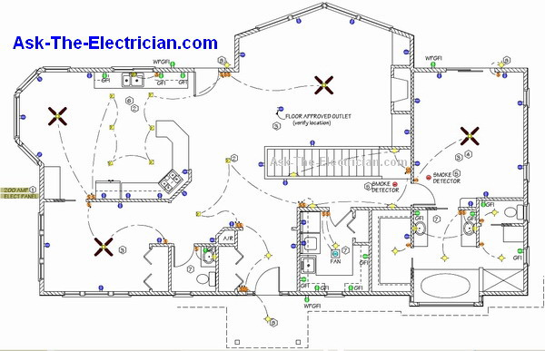 basic home wiring plans and wiring diagrams rh ask the electrician com basic electrical house wiring colors simple electrical house wiring diagram