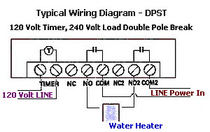 how to wire a water heater timer controlwater heater timer wiring diagram time clock water heater