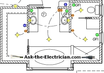 bathroom electrical wiring rh ask the electrician com Bathroom Fan Wiring Diagram Bathroom Exhaust Fan Switch Wiring Diagram