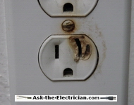 hot electrical plug