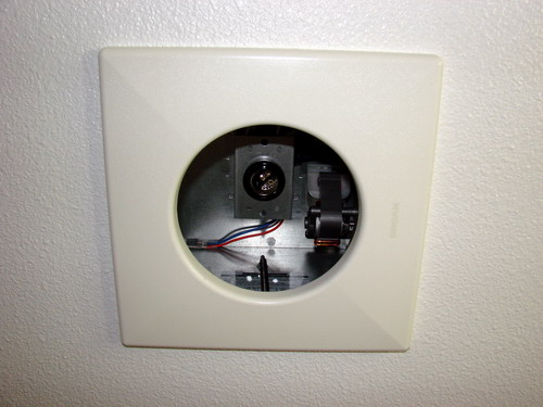 painted opening · mounted heat fan · cover spring · exhaust fan unit trim